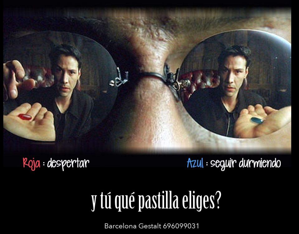 matrix elegir la pastilla roja o la azul